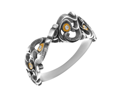 Серебряное кольцо Неаполь 1100699-00775 pokrovsky фото
