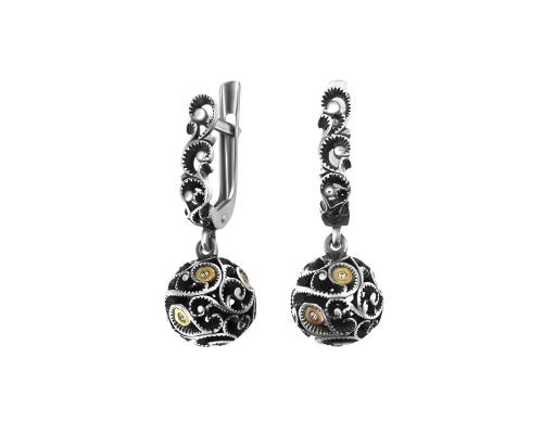 Серебряные серьги «Афродита» 2100698-00775 pokrovsky фото