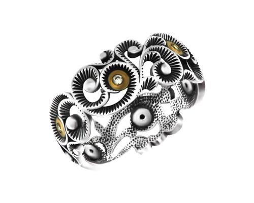 Серебряное кольцо , фианитами и чернением