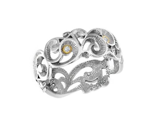 Серебряное кольцо и фианитами 1100679-10775 pokrovsky фото