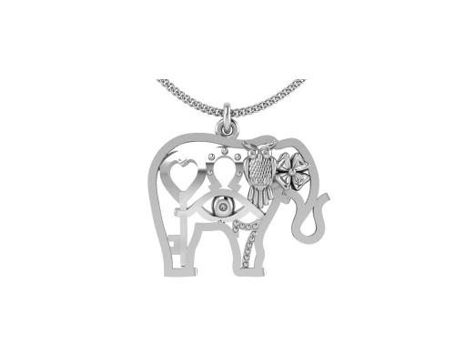 Серебряная подвеска «Слон» из коллекции «Счастье» 0400521-00245 pokrovsky фото