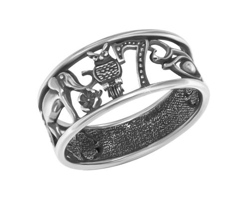 Серебряное кольцо «Счастье»