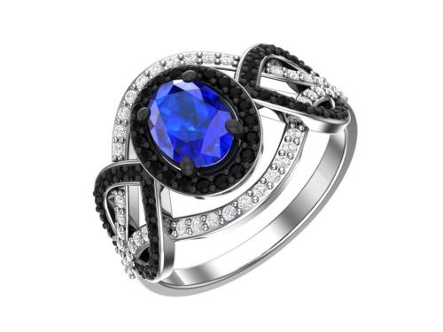 Серебряное кольцо Buckingham