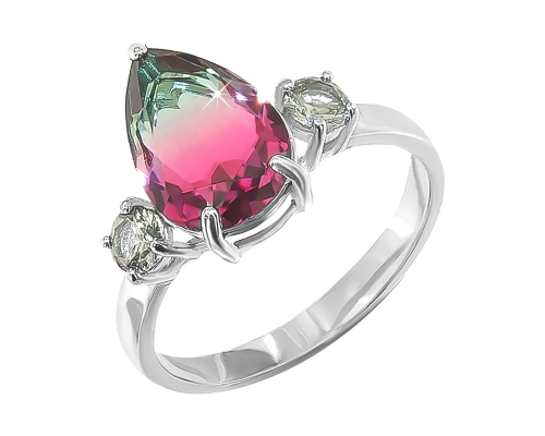 Серебряное кольцо Леденец