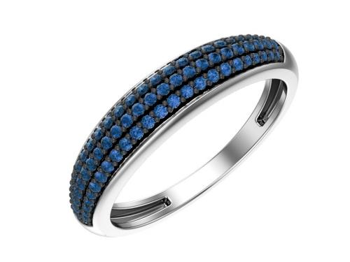 Серебряное синее кольцо 1100728-00275 pokrovsky фото