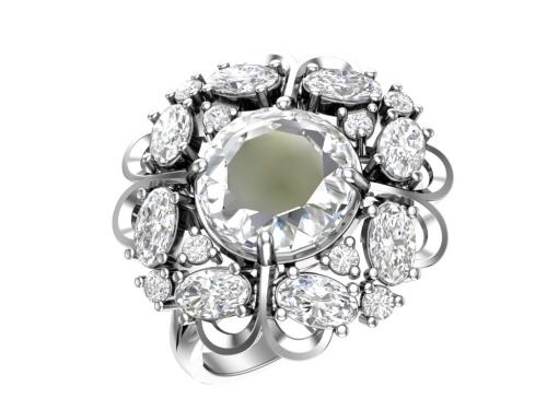 Серебряное кольцо Виконтесса