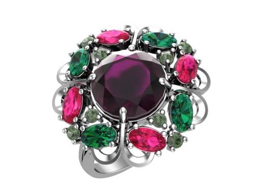 Серебряное кольцо Виконтесса 1100789-14345 pokrovsky фото