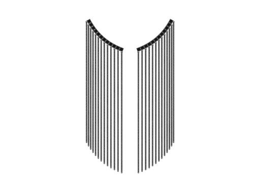 Серебряные серьги-каффы с черными фианитами 0221318-10205 pokrovsky фото