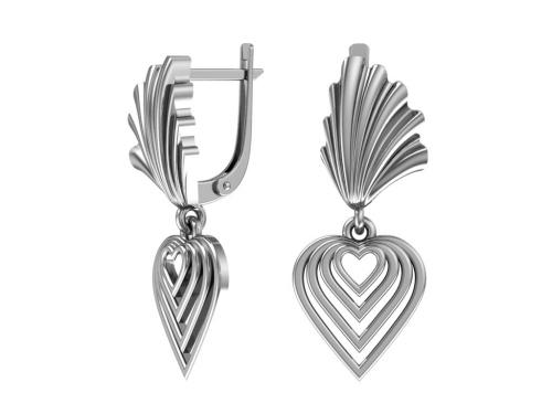 Серебряные серьги 2101019-00245 pokrovsky фото