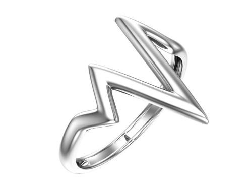 Серебряное кольцо «Молния»