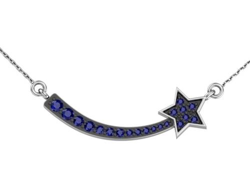 Серебряное колье «Созвездие»