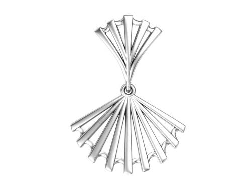 Серебряная подвеска «Веер»