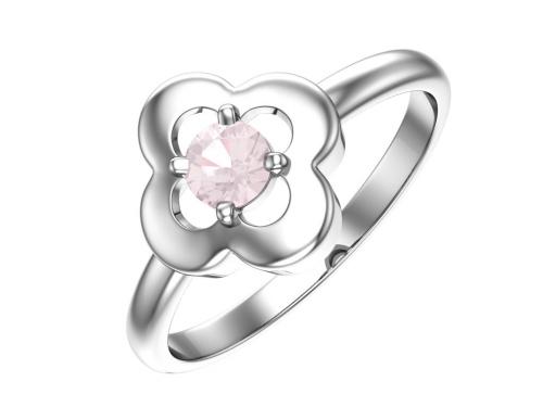 Серебряное кольцо с опаловым фианитом