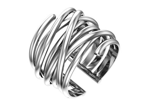 Серебряное кольцо «Нити судьбы»