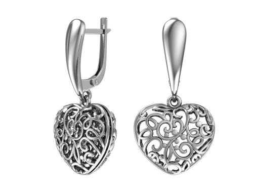 Серебряные серьги 2101072-00245 pokrovsky фото