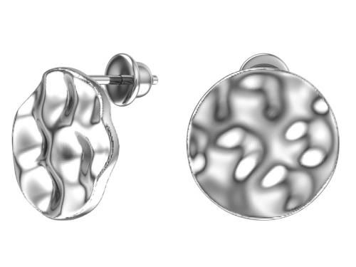 Серебряные пусеты