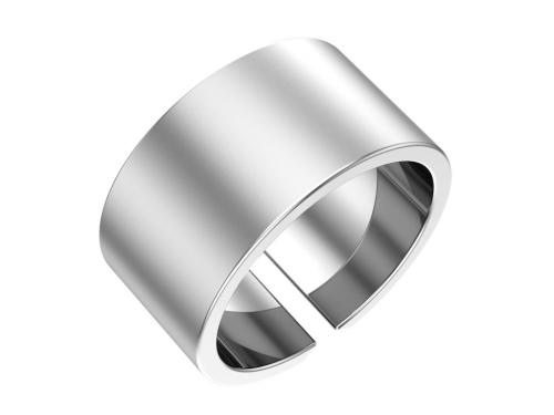 Серебряное кольцо, матовое, ширина 8 мм.