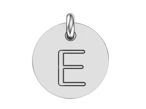 Серебряная подвеска буква Е
