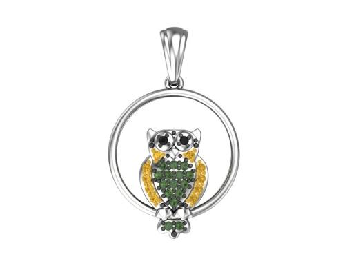 Серебряная подвеска «Птица мудрости»