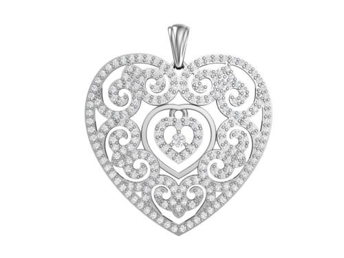 Серебряная подвеска «Ажур»