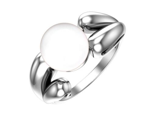 Серебряное кольцо с жемчугом имитация белый 1101061-03675 pokrovsky фото