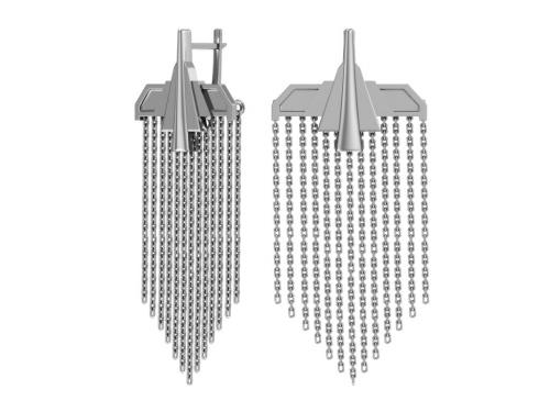 Серебряные серьги Самолеты с цепями 0221401-00245 pokrovsky фото