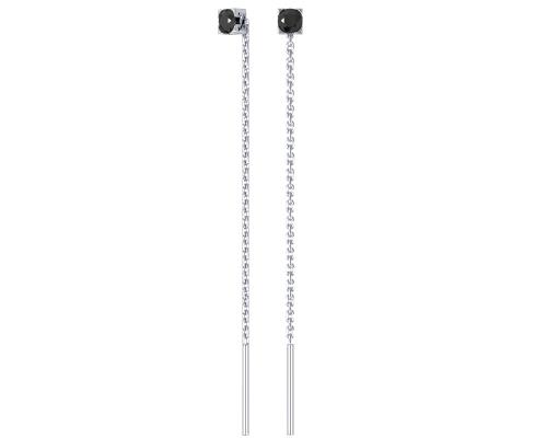 Серебряные серьги с чёрными фианитами 0221288-00205 pokrovsky фото