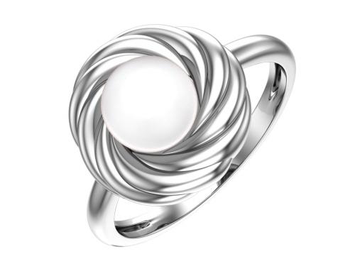 Серебряное кольцо с имитацией жемчуга 1101151-03675 pokrovsky фото