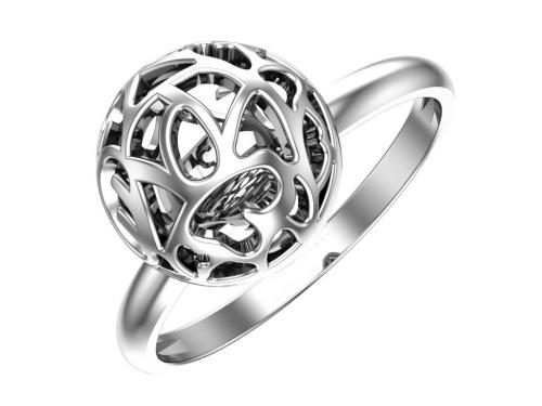 Серебряное кольцо «Узорный шар»