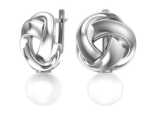Серебряные серьги с имитацией жемчуга 2101153-03675 pokrovsky фото