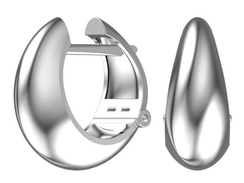 Серебряные серьги в стиле минимализм