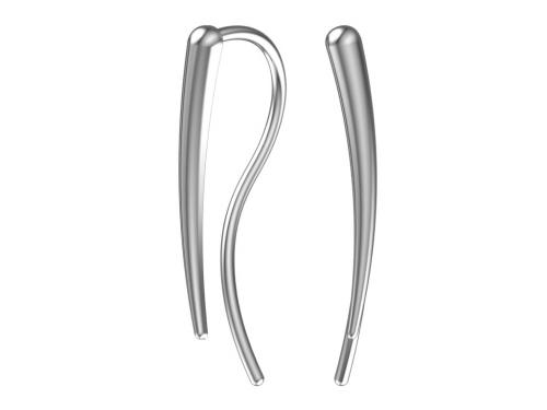 Серебряные серьги-каффы в стиле минимализм